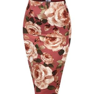 Sexy stretchy bodycon floral new skirt